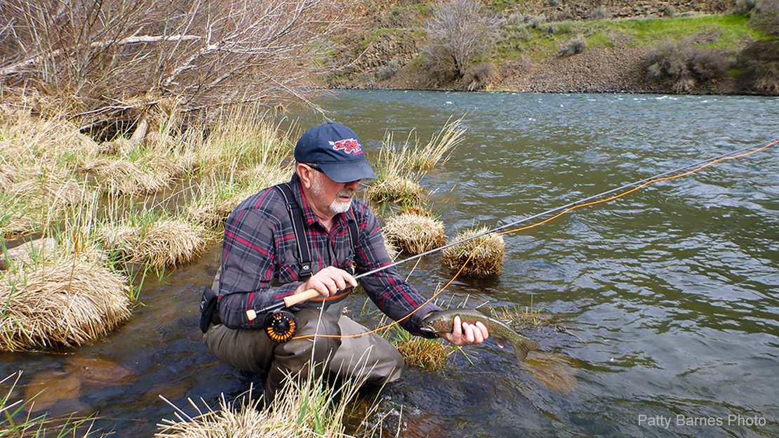 Learn how to fly fish with nymphs on the Deschutes River in Oregon
