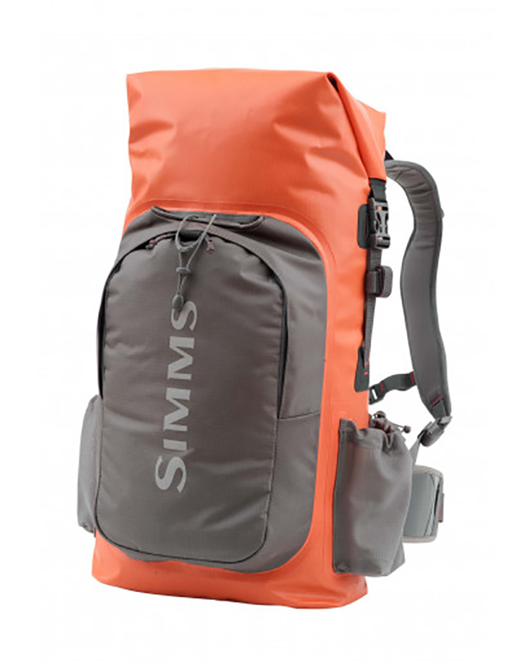 Simms Dry Creek Backpack Dry Creek Backpack, fully submersible, roll-top, protects gear from all types of weather, comfortable to wear