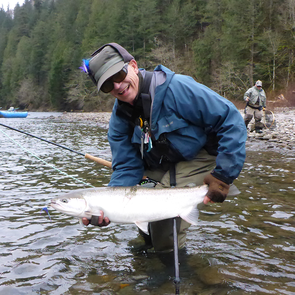 Two day steelhead spey school for Columbia river fish counts