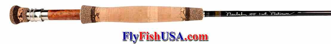 Beulah Platinum PL3100 fly rod, showing handle.