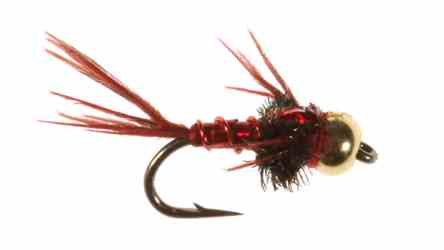 Bead Head Lightning Bug, Red Bead Head Lightning Bug, Red