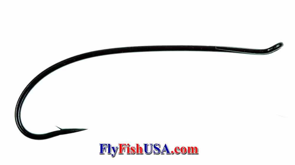 Alec Jackson Spey Hook, standard wire, black, picture