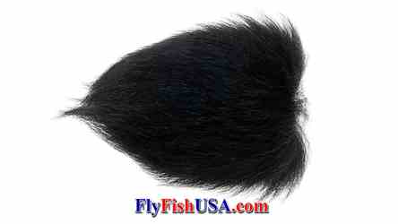 Arctic Fox Tail Tip, Black, picture