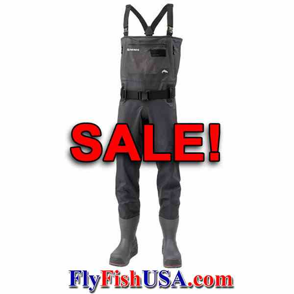 Simms ExStream Bootfoot Felt Sole Waders SALE, picture