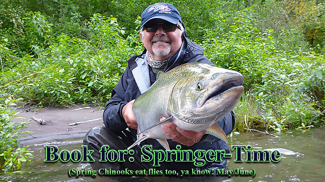 Guide Mark Bachmann with a Sandy River, Oregon Chinook Salmon