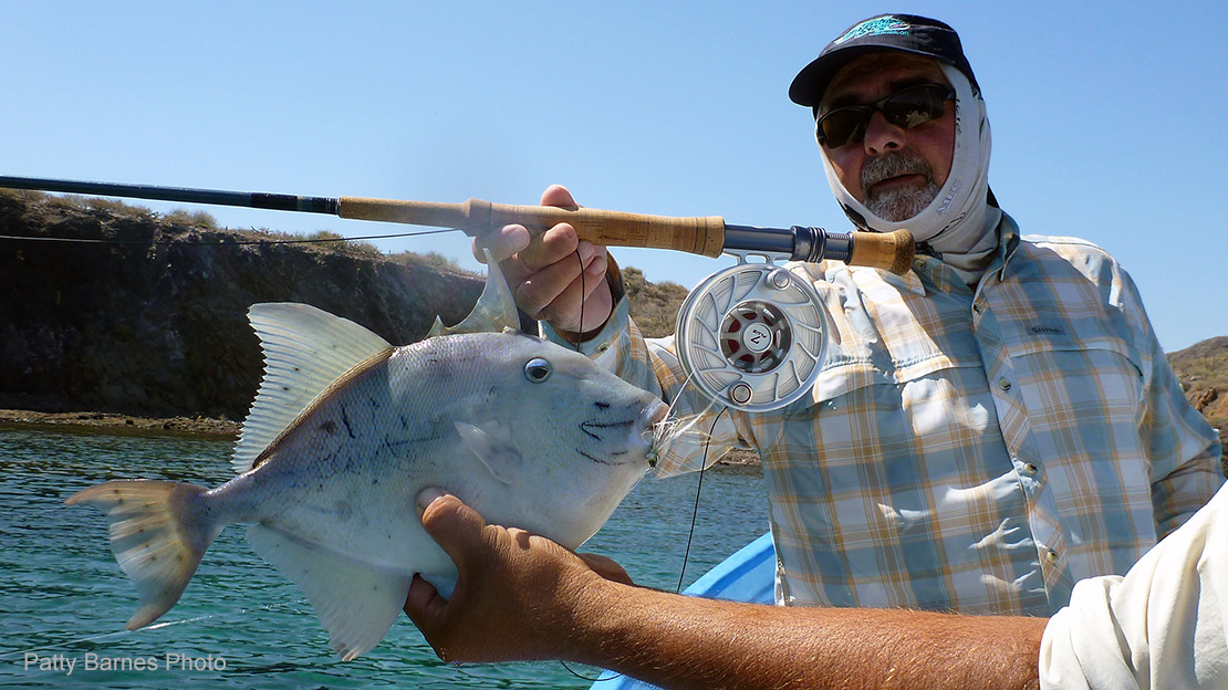 Pictured here is a Hatch Outdoors Finatic Reel and Mark Bachmann fishing the Sea of Cortez in Mexico.