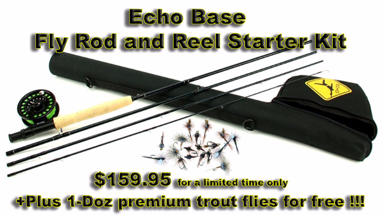 Echo Base Fly Rod and Reel Starter Kit