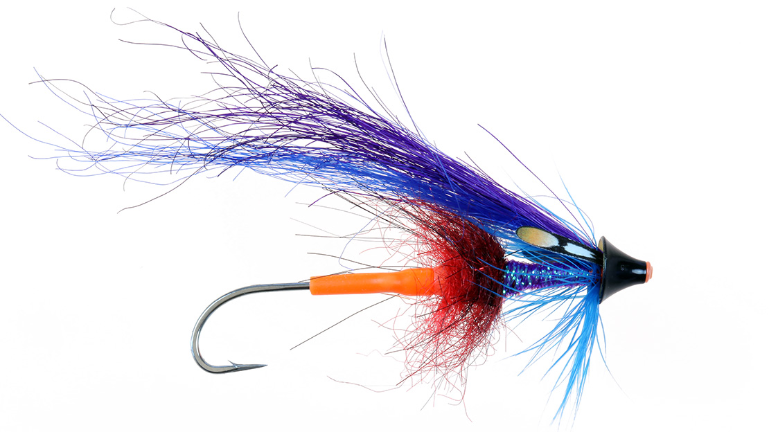 This fly was tied using Po Sportfisher Generation 3 Jungle Cock eyes by Tony Barnes for fishing the Sandy River in Oregon