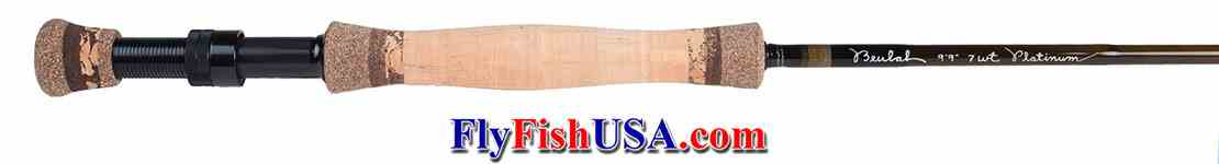 Beulah Platinum PL799-4 Fly Fishing rod, handle showing.