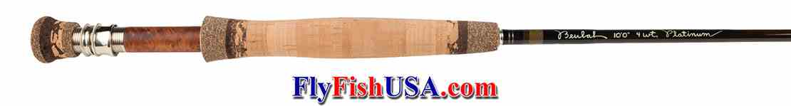Beulah Platinum PL4100 fly rod, showing handle.
