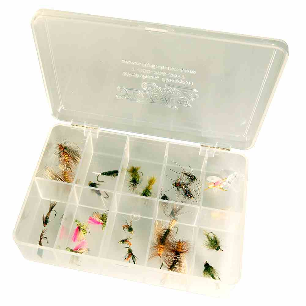 Medium Size Interlocking Clear Fly Box, 10 Compartment - 10/11/3790
