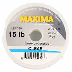 Maxima Clear leader/tippet spool, picture.
