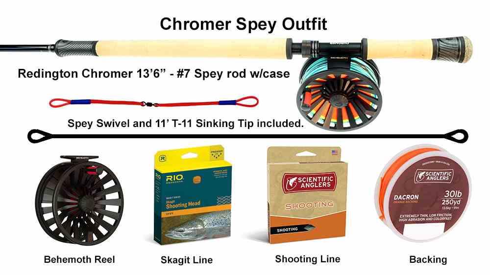 Redington Chromer Spey Outfit