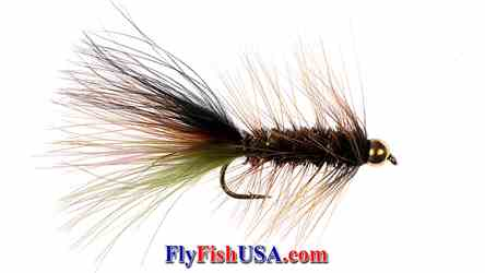 Tungsten Gold Bead Thin Mint Fly, picture