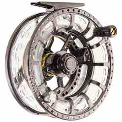Hardy ASR Fly Reel, quartering front view, picture