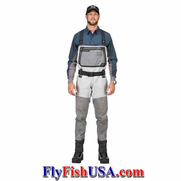 2018 model Simms Guide Stockingfoot Waders, pictures with male model