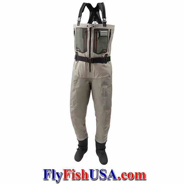 Simms G4Z Stockingfoot, Breathable, Zip-front waders, picture