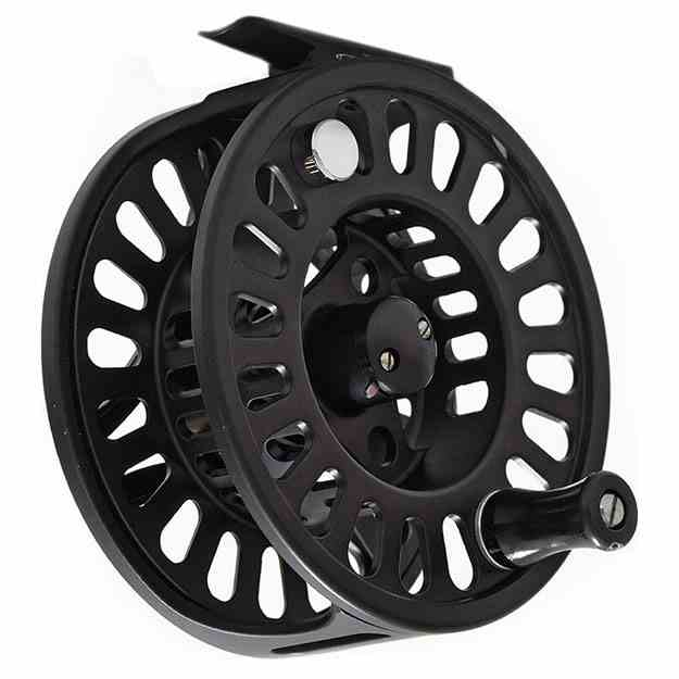 TFO Prism 911 Best Buy Large Arbor Spey Reel, quartering, picture