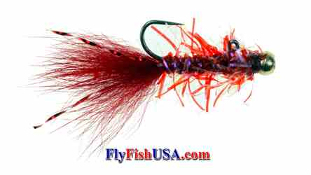 Rowleys BB Micro Leech, Red, picture