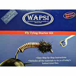 Picture, Wapsi Fly Tying Starter Kit, box lid