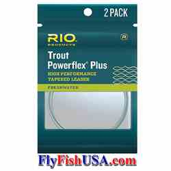 RIO Powerflex Plus Leaders 2-Pack RIO Powerflex Plus, Leaders, 2-Pack, 20% stronger than other leader, clear, knotless tapered, perfection loop at butt