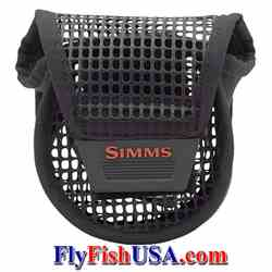 Simms Bounty Hunter Mesh Reel Pouch Simms, Bounty Hunter, Mesh Reel Pouch, fly reel case, protective reel cover, fits reel while on rod