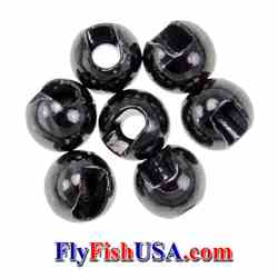 Slotted Tungsten Beads, Black, picture