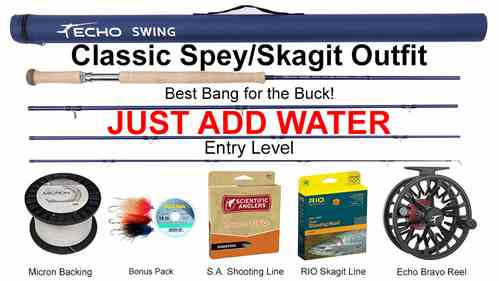 Picture, Classic Spey/Skagit Outfit, all components pictured