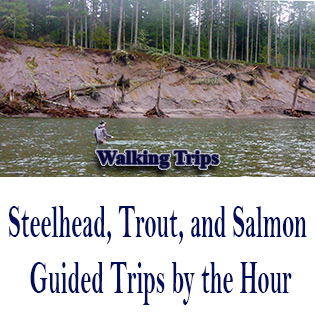 fishing the Sandy River in Oregon with a guide from The Fly Fishing Shop.